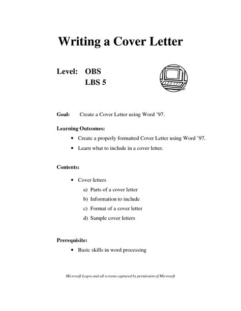 cover letter  project scope template