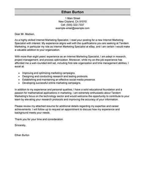 marketer  social media cover letter