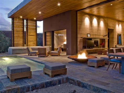 Rammed earth walls   Contemporary   Patio   other metro