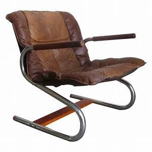 Fauteuil Cuir Et Bois : fauteuil vintage en acier cuir et bois 1960 design market ~ Teatrodelosmanantiales.com Idées de Décoration