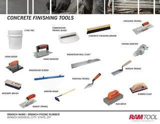 concrete finishing tools  ram tool construction supply