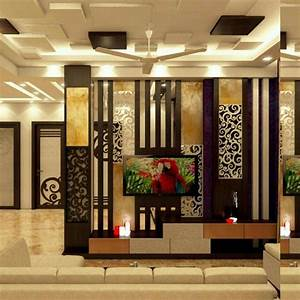 Partition wall interior india pinterest walls tv for Living room partition wall designs