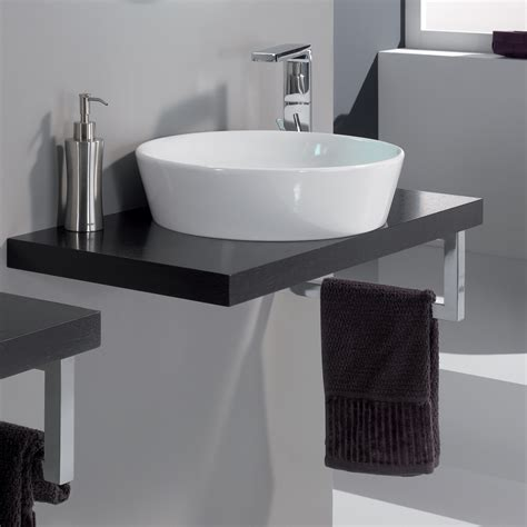 modern cleo  veneered wenge bathroom sink stand
