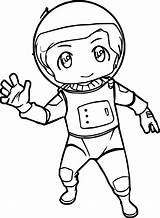 Nasa Drawing Astronaut Coloring Pages Chibi Spaceship Boys Drawings Kid Outfit Wecoloringpage Clipartmag sketch template