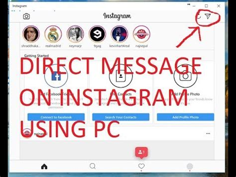 text someone from computer how to send direct message on instagram using pc 2017