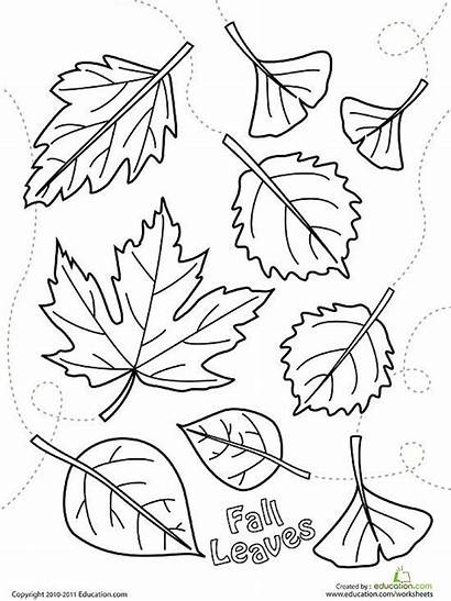 Coloring Fall Pages Leaves Printable Printables Falling