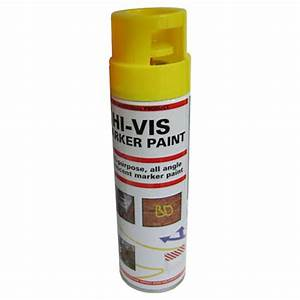 Surveying Equipment Yellow Fluorescent Hi Vis Spray Paint