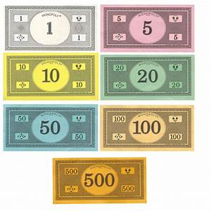 best photos of monopoly money template printable With monopoly money templates