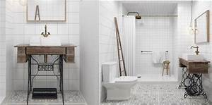 Relooker Meuble Salle De Bain : d co de salle de bains 10 meubles anciens d tourn s en plan vasque femme actuelle ~ Melissatoandfro.com Idées de Décoration