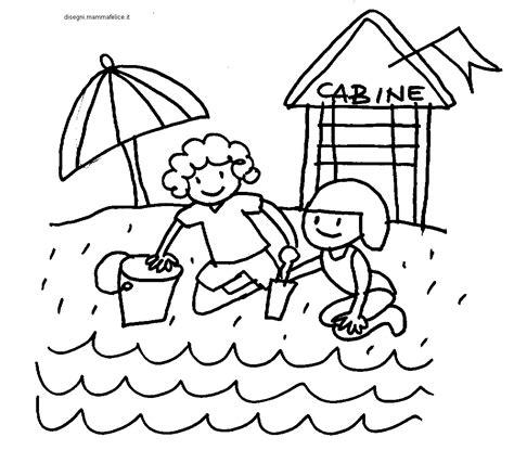 disegni bimbi al mare da colorare disegno da colorare bimbi in spiaggia disegni mammafelice