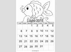 Calendario 2015 da colorare – Luglio TuttoDisegnicom