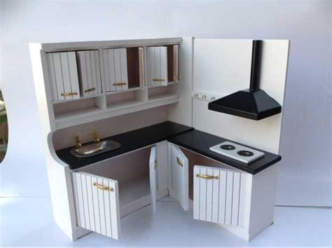 miniature dollhouse kitchen furniture 1 12 design dollhouse miniature integral kitchen