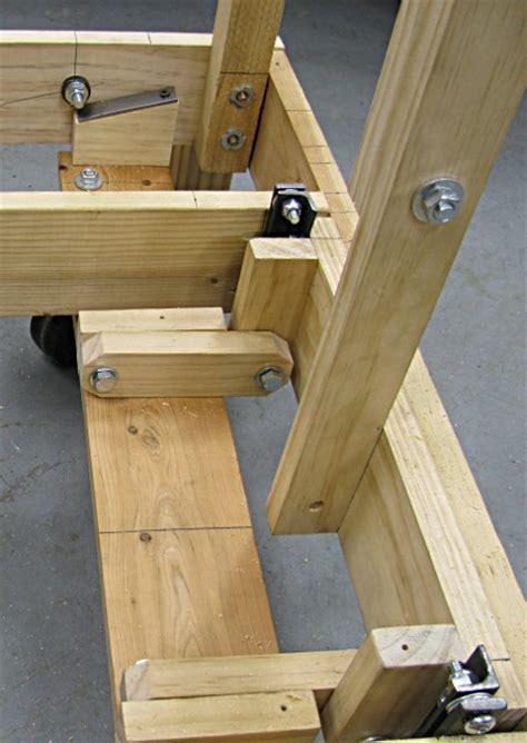 rolling cart  retracting wheels milwaukee makerspace