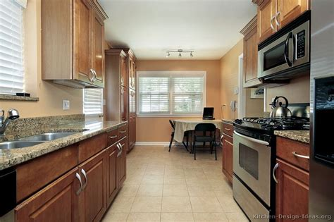 galley kitchen designs ideas pictures of kitchens traditional medium wood cabinets brown page 2