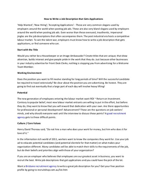 How To Write Description In Resume by 28 How To Write A Resume Description How To Write A Resume Mshj7 Yourmomhatesthis How
