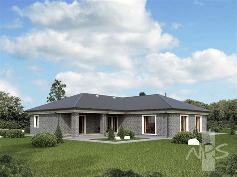 houses plans quot meida quot single storey house project with two place garage nps houseproject
