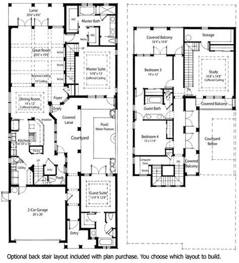 plan zr energy saving courtyard house plan