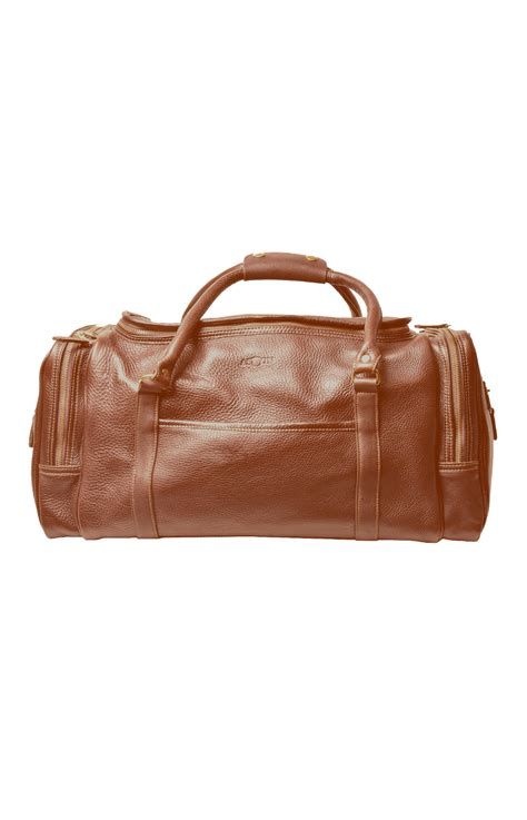 Cowhide Leather Quality by Cognac Cowhide Leather Duffel Bag By Aston American Made