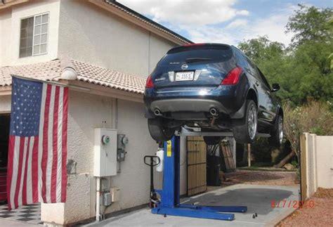 home garage car lift portable car best car lift for home garage the better