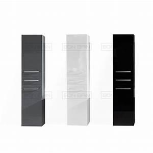 Colonne Salle De Bain Noir : colonne salle de bain laqu e design contemporain ~ Teatrodelosmanantiales.com Idées de Décoration