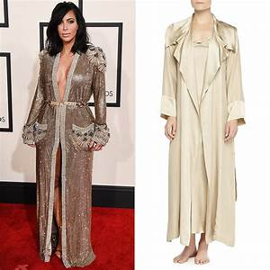 kim kardashian robe dress at the grammys popsugar fashion With dress robes