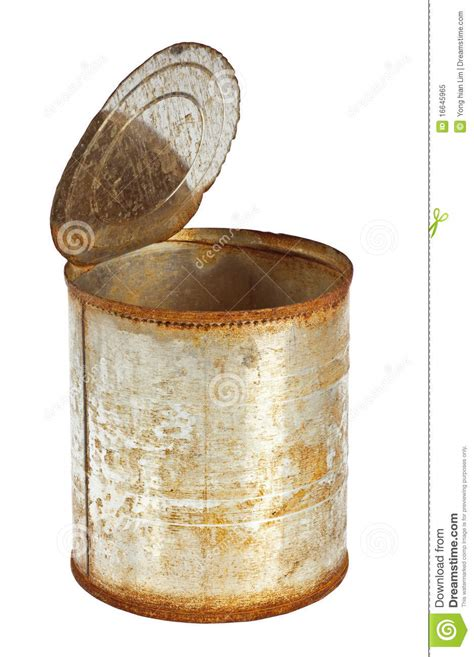 rusty tin royalty opened isolated background dreamstime
