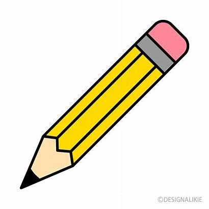 Pencil Clipart Yellow Eraser Colored Crayon Royalty