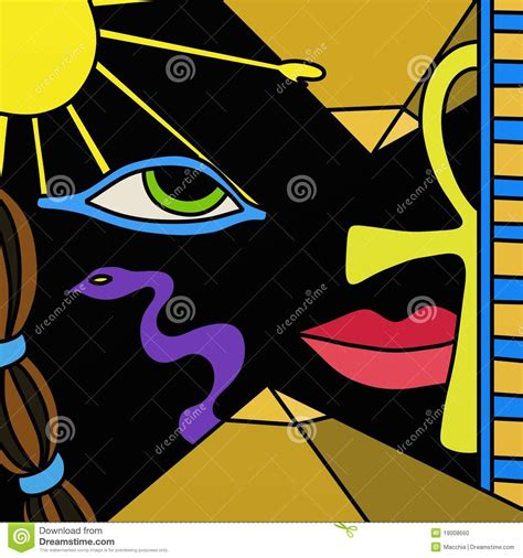 egyptian symbols stock illustration illustration