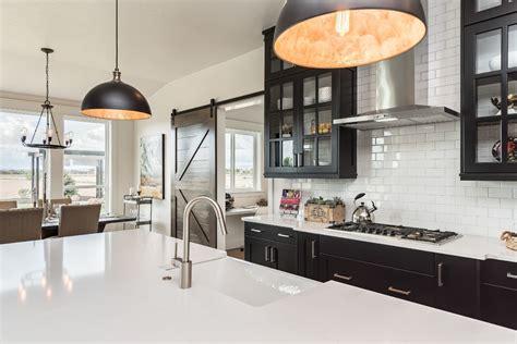 Modern Traditional Kitchen Ideas - diy farmhouse lighting kitchen farmhouse with black pendant lighting black cabinets with czmcam org
