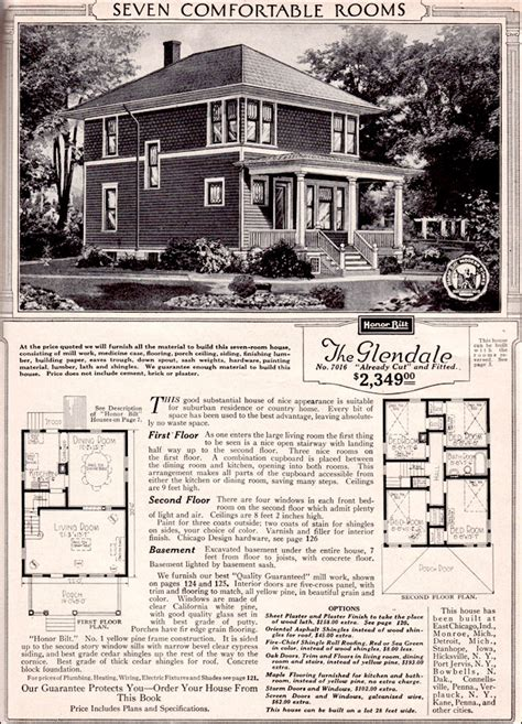 sears kit house  glendale  story traditional foursquare