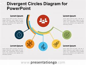 Divergent Circles Diagram For Powerpoint