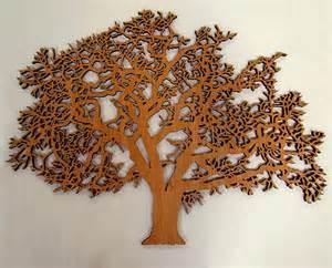 items similar to laser cut oak tree wall art on etsy