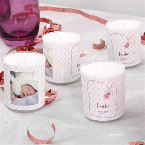 kleine kerzen mit rosa motiv im 4er set als tischdeko f 252 r