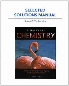 Study Guide And Selected Solutions Manual For Chemistry By