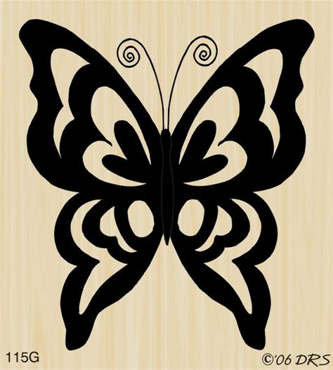 large open silhouette butterfly  drs designs