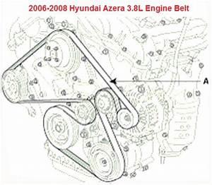 2006-2008 Hyundai Azera 3 8l Serpentine Belt Diagram