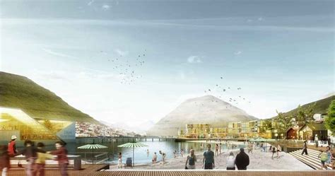faroe islands competition klaksvik design  architect