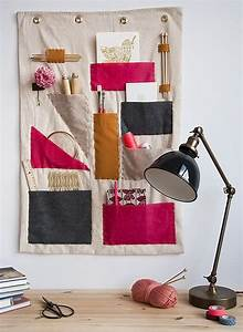 Make it a colorful diy hanging office organizer ? curbly