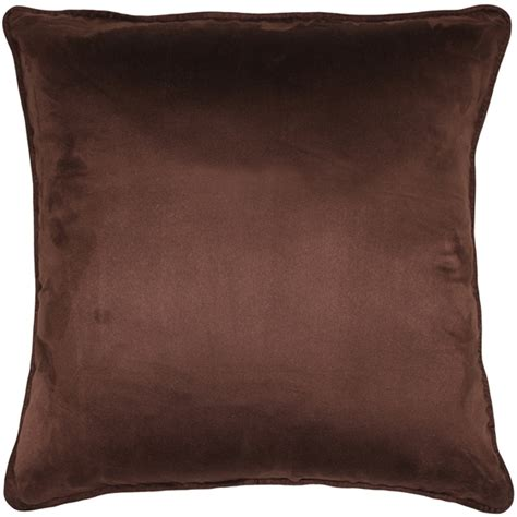 brown decorative pillows sedona microsuede chocolate brown throw pillow 22x22 from