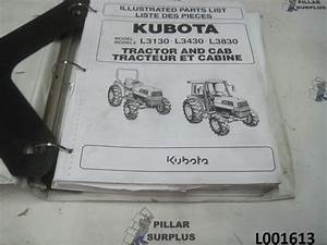 Kubota L3130  L3430  L3830 Tractor  U0026 Cab Illustrated Parts