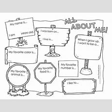All About Me Coloring Pages  Az Coloring Pages