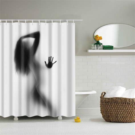 portrait decor bathroom shower curtains shadow