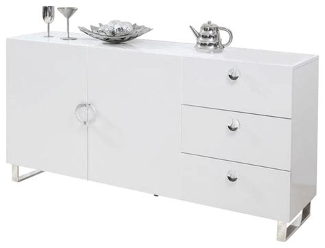 White Sideboard Furniture by Amelia High Gloss Sideboard White Contemporary