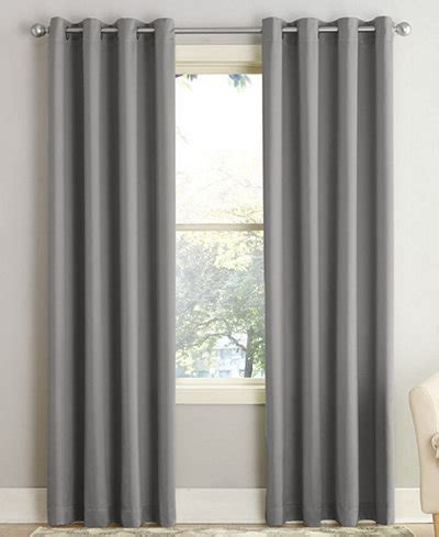 Living Room Curtains At Macy S by Sun Zero Grant Room Darkening Grommet 54 Quot X 84 Quot Curtain