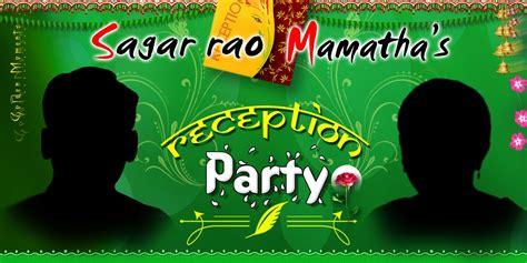 indian wedding flex banner psd template  downloads