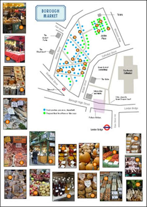 borough market plan london market maps and plans