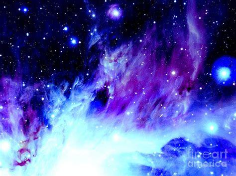 Purple Blue Orion Nebula Photograph by Johari Smith