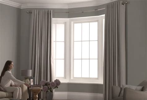Drapery Hardware For Bay Window by Eyelet 3 Sided Bay Curtain Pole Direct Fabrics