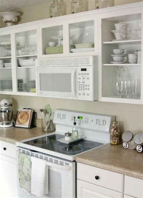 open shelf kitchen cabinet ideas the range microwave and open shelving kitchens