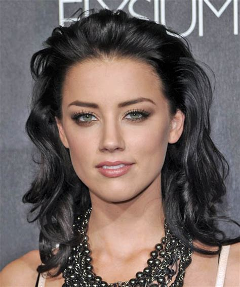 Amber Heard Long Wavy Formal <a href=